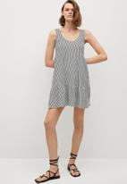 MANGO - Dress maroto - white & black