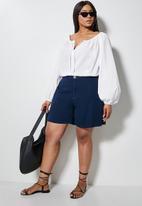 Superbalist - Femme tie front blouse - white