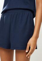 Superbalist - Waffle knit vest & shorts set - navy
