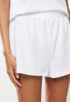 Superbalist - Waffle knit vest & shorts set - white