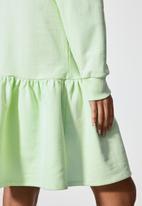 Superbalist - Long sleeve tiered sweat dress - caledon