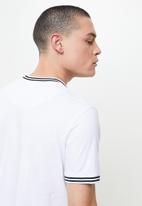 Brave Soul - Rib cuffed tee - optic white