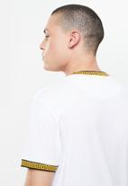 Brave Soul - Jaquard printed rib tee - white
