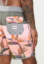 Hurley - Phntm bird 18in boardshort - khaki & pink