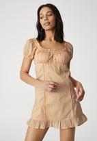 Cotton On - Woven petite lily mini dress - brushed peach