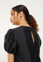 Blake - Drop waisted mini dress - black