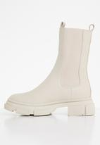 Missguided - Chunky pull on ankle boots - cream