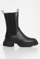 Missguided - Chunky pull on ankle boots - black