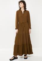 MANGO - Dress canyon - brown