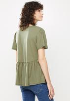 MANGO - T-shirt thalia - green