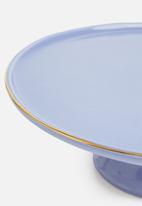 Urchin Art - Des Moines cake stand - sapphire & gold