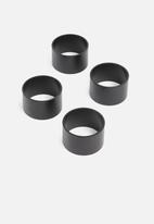 Sixth Floor - Ella napkin ring - matte black