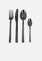 Kitchen Craft - Mikasa ciara diseno 16 piece cutlery - black