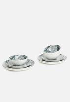 Maxwell & Williams - Panama side plate  set of 4 - grey