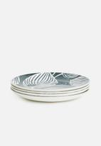Maxwell & Williams - Panama dinner plate set of 4-grey