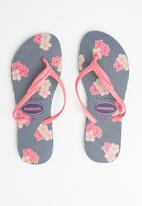Havaianas - Fantasia romantica - indigo blue & pink