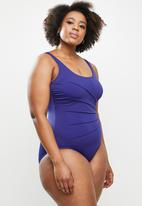 Jacqueline - Dart one piece - blue