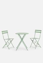 H&S - Garden furniture set - green