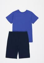 POP CANDY - Tee & shorts pj set - blue & navy
