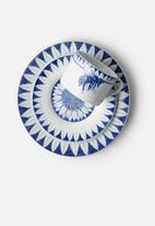 SARIE - Bee & flower gift set - blue & white