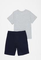 Superbalist Kids - Tee & shorts pj set - grey & blue