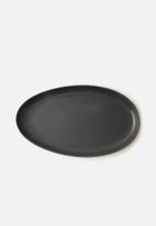Omada - Irregular platter - dark grey