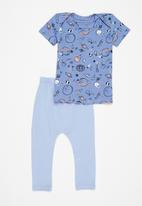 Superbalist Kids - Top & legging space set - blue