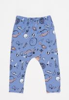 Superbalist Kids - 2 pack space leggings - blue & cream