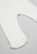 Superbalist Kids - 2 pack space footed pants - blue & cream
