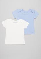 Superbalist Kids - Baby 2 pack tee - blue & cream