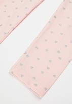 MINOTI - Girls basic aop legging - pink