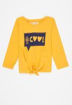MINOTI - Girls basic cool top - yellow