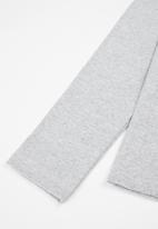 MINOTI - Girls basic ribbed top - light grey