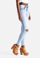 New Look - Fray Hem Slash Skinny Jeans