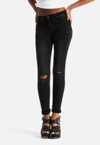 New Look - Skinny Knee Rip Darth Jeans