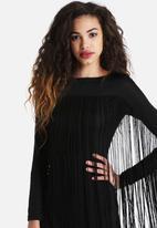 The Lot - Stevie Long Sleeve Tassle Dress