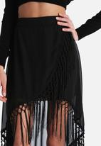 The Lot - Gypsy Soul Tassle Maxi Skirt