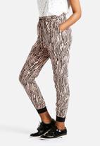 Vero Moda - Just Easy Rib String Linen Pants
