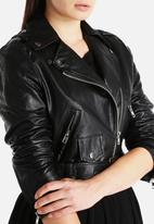 Goldie - Need For Speed Cropped Biker Jacket