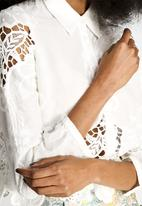 Dahlia - Lila Embroidered Blouse