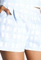 Dahlia - Textured Check Shorts