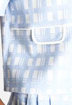 Dahlia - Textured Check Top