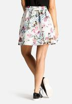 Dahlia - Spot and Flower Skirt