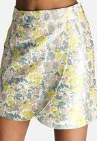 Dahlia - Pastel Jacquard Wrap Skirt