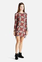 Glamorous - Kaleidoscope Fringe Dress