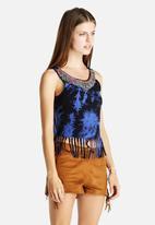 Glamorous - Tie-Dye Beaded Top
