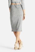Glamorous - Grey Rib Pencil Skirt