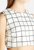 Glamorous - Grid Crop Top