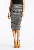 Glamorous - Aztec Stripe Skirt