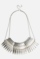 New Look - Statement Feather Spike Necklace